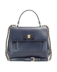 Ferragamo - Blue Carrie Leather Bag - Lyst