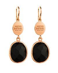 Henri Bendel | Black Modern Stone Drop Earring | Lyst