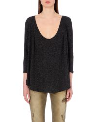 Free People | Black Tambourine Jersey Top | Lyst