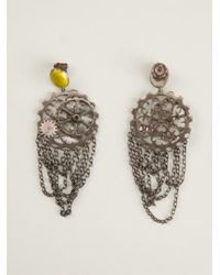 Bottega Veneta - Yellow Cog Wheel Earrings - Lyst