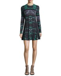 Nicole Miller | Green Quinn Force Field Sheath Dress With Ruching | Lyst