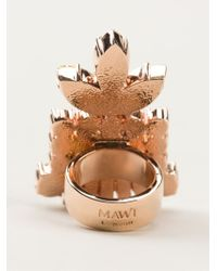 Mawi | Multicolor Embellished Cocktail Ring | Lyst