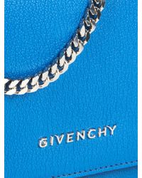 Givenchy - Blue Pandora Leather Clutch - Lyst