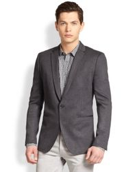 Theory - Gray Stirling Knit Blazer for Men - Lyst