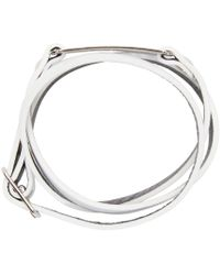McQ - Metallic White Razor Charm Bracelet for Men - Lyst