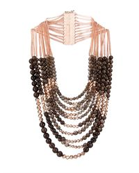 Rosantica By Michela Panero | Black Raissa Quartz & Gold-Plated Necklace | Lyst