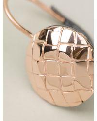 Bottega Veneta - Metallic Intrecciato Earring - Lyst