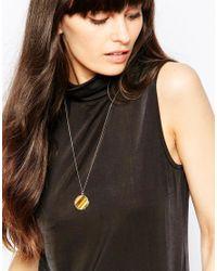 Weekday - Metallic Flat Necklace - Lyst