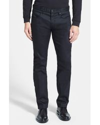 HUGO | Black '708' Slim Fit Jeans for Men | Lyst