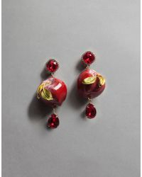 Dolce & Gabbana | Red Apple Earrings | Lyst