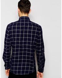 Esprit | Blue Window Pane Check Shirt for Men | Lyst
