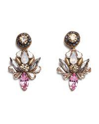 Deepa Gurnani | Multicolor Mesmerizing Crystal Symbol Earrings | Lyst