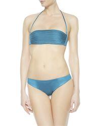 La Perla | Blue Bandeau Bikini Top | Lyst