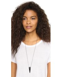 Alexis Bittar - Liquid Metal Spear Pendant Necklace - Black - Lyst