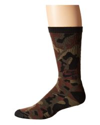 Nike | Brown Camo Crew Sock for Men | Lyst