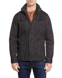 Jeremiah - Black 'thorne' Coated Canvas Jacket for Men - Lyst
