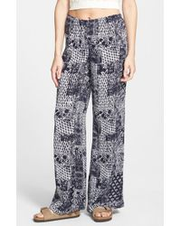 Billabong - Blue 'keepsake' Print Beach Pants - Lyst
