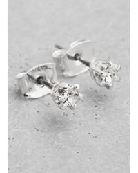 & Other Stories | Metallic Rhinestone Stud Earrings | Lyst