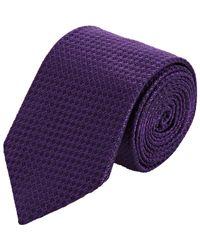Barneys New York   Purple Jacquard Necktie for Men   Lyst