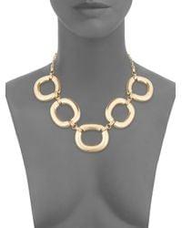 Saks Fifth Avenue - Metallic Oversized Oval Link Necklace/goldtone - Lyst