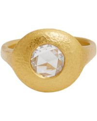 Linda Lee Johnson - Metallic Women's Diamond & Gold jubilee Rose Ring - Lyst