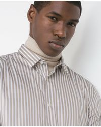 Zara | Natural Striped Shirt for Men | Lyst