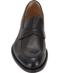 Barneys New York - Black Aprontoe Penny Loafers for Men - Lyst