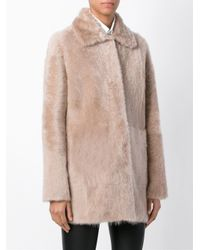 DROMe - Natural Reversible Shearling Coat - Lyst