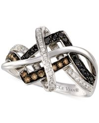Le Vian | Diamond Knot Ring In 14k White Gold (1/2 Ct. T.w.) | Lyst
