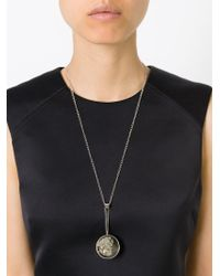 J.W.Anderson - Metallic Rock Pendant Necklace - Lyst