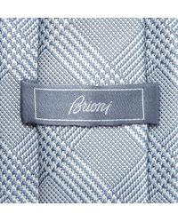 Brioni | Blue Prince Of Wales Check Silk Tie for Men | Lyst