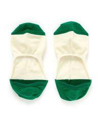 Hansel From Basel - White Colourblock Liner Socks - Lyst