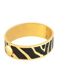 Halcyon Days - Metallic Gold Zebra Hinged Bangle - Lyst