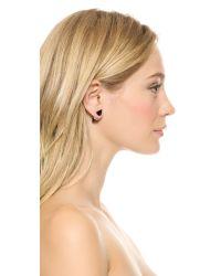 Vita Fede | Pink Double Titan Stone Earrings Onyxrose Gold | Lyst