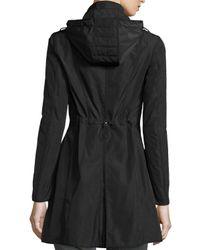 Moncler - Black Argiela Hooded Smocked Coat - Lyst