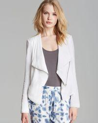 BB Dakota - White Jacket - Asymmetric Drape - Lyst