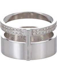 Repossi | Metallic Pavé Diamond & White Gold Berbère Module Cage Ring | Lyst