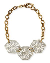 Lulu Frost | Metallic Atrium Crystal Statement Necklace | Lyst