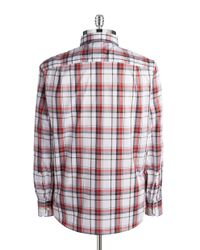 Victorinox | Red Morgan Plaid Sportshirt for Men | Lyst