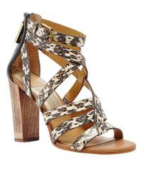 Dolce Vita - Gray Nolin Leather Strappy Open-toe Sandals - Lyst