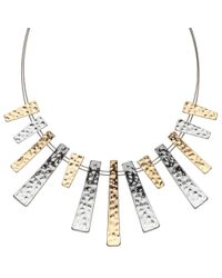 John Lewis | Wire Metallic Bars Necklace | Lyst