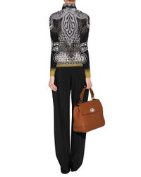 Etro   Black - Intarsia Knit Belted Top - Women - Silk - 46   Lyst