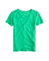 J.Crew | Green Linen T-shirt | Lyst