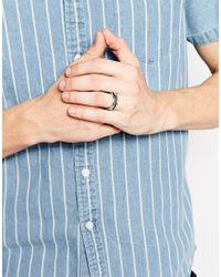 ASOS - Metallic Sliced Ring for Men - Lyst