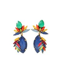 Erickson Beamon - Multicolor Splash Drop Earrings - Lyst