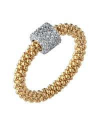 Links of London | Metallic Star Dust Yellow Gold Bead Ring | Lyst