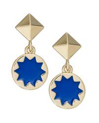 House of Harlow 1960 - Blue Goldtone Sunburst Enamel Drop Earrings - Lyst