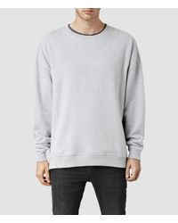 AllSaints | Gray Metta Crew Sweatshirt for Men | Lyst