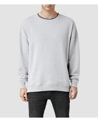 AllSaints - Gray Metta Crew Sweatshirt for Men - Lyst