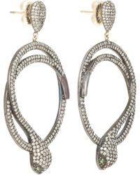 Carole Shashona | Black 'harmony Snake' Diamond Earrings | Lyst
